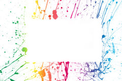 Colorful paint frame Royalty Free Stock Photo