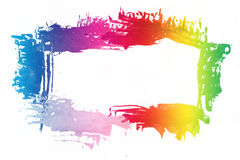 Colorful paint frame Stock Photos