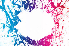 Colorful paint frame Stock Photography