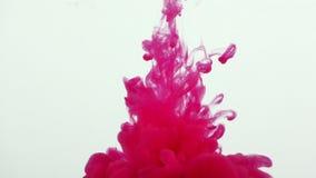 Colorful Paint Ink Drops Splash in Underwater in Water Pool stock footage