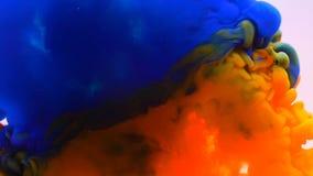 Colorful ink splashing and blending underwater. Colorful paint ink splashing and blending underwater vector illustration