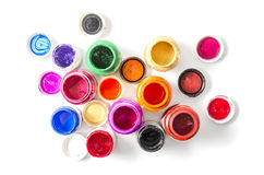 Colorful paint Stock Images