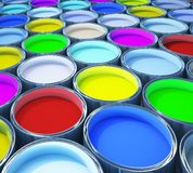 Colorful paint royalty free illustration
