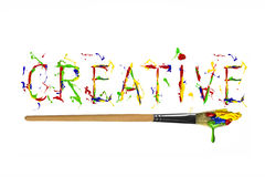 Colorful paint painted word creative Royalty Free Stock Photo