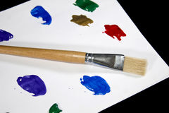 Colorful Paint Palette on  Black Background Royalty Free Stock Image