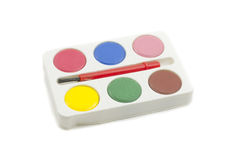 Colorful Paint set and brush Stock Photography
