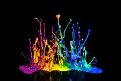 Colorful Paint Splash on a Speaker Stock Image