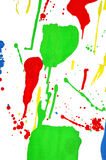 Colorful paint splash. On the white background Stock Images