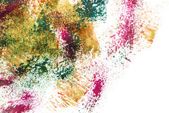 Colorful paint splash. Abstract splash of colorful paint on white as a background stock photography
