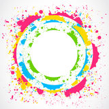 Colorful paint splash circle vector illustration