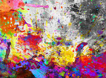 Colorful paint splash grunge stock illustration