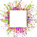 Colorful paint splash royalty free stock images