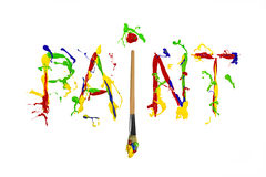 Free Colorful Paint Splash Painted Word Paint Stock Images - 41458674