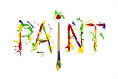 Colorful paint splash painted word paint Stock Images