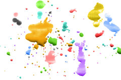 Colorful paint splash. Splash of colorful paint on white background royalty free stock images