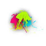 Colorful Paint Splashes Royalty Free Stock Photography