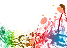 Colorful paint splashes background Stock Images