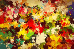 Colorful paint splashes background. Creative art Stock Photo