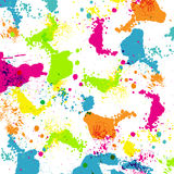Colorful paint splashes. Vector illustration Stock Photography