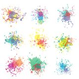 Colorful paint splashes on white. plus EPS10 Royalty Free Stock Image