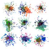Colorful paint splashes on white. plus EPS10 Royalty Free Stock Photos
