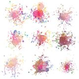 Colorful paint splashes on white. plus EPS10 Royalty Free Stock Photography