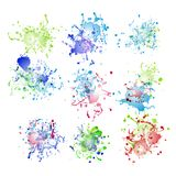 Colorful paint splashes on white. plus EPS10 Stock Photos
