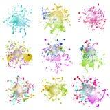 Colorful paint splashes on white. plus EPS10 Stock Image