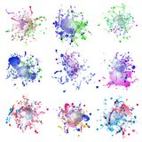 Colorful paint splashes on white. plus EPS10 Stock Images