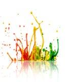 Colorful paint splashing Stock Photo