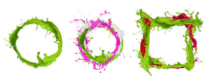 Colorful paint splashing Royalty Free Stock Photography