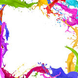 Colorful paint splashing. On white background vector illustration