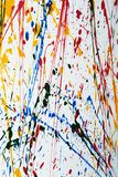 Colorful paint splatter Royalty Free Stock Photography