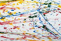 Colorful paint splatter. Close up Colorful paint splatter royalty free stock images