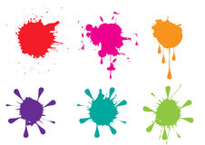 Colorful paint splatters  set Vector illustration Royalty Free Stock Photography