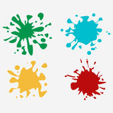 Colorful paint splatters Royalty Free Stock Photos