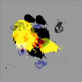Colorful paint spots Stock Image