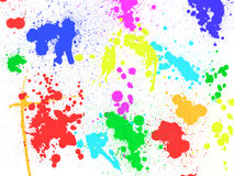 Colorful paint stains and blobs Stock Image