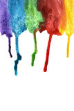 Colorful paint streaks Stock Images