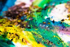 Colorful paint  Vibrant colors Stock Image