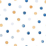 Colorful paint watercolor seamless pattern. - Illustration stock image