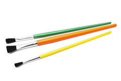 Colorful paintbrushes Stock Image