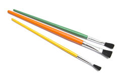 Colorful paintbrushes Stock Images