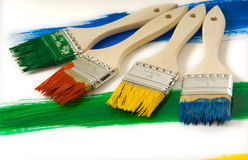 Colorful paintbrushes Stock Photography
