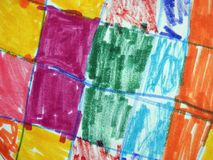 Colorful painted abstract  can use as background Royalty Free Stock Photos