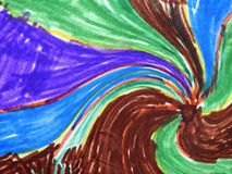 Colorful painted abstract  can use as background Royalty Free Stock Photo