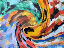 Colorful painted abstract can use as background Stock Photography