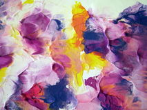 Colorful painted abstract Stock Image