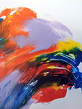 Colorful painted abstract Stock Photos