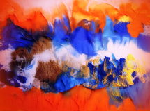 Colorful painted abstract Stock Images